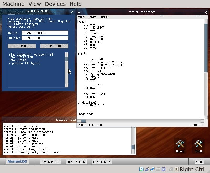 boxbase org: MenuetOS Programmer Review